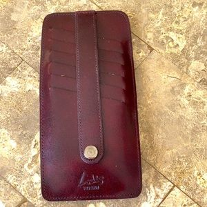 Lodis leather credit card holder.